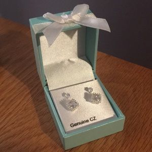 Sparkly Cubic Zirconia earrings - two sets
